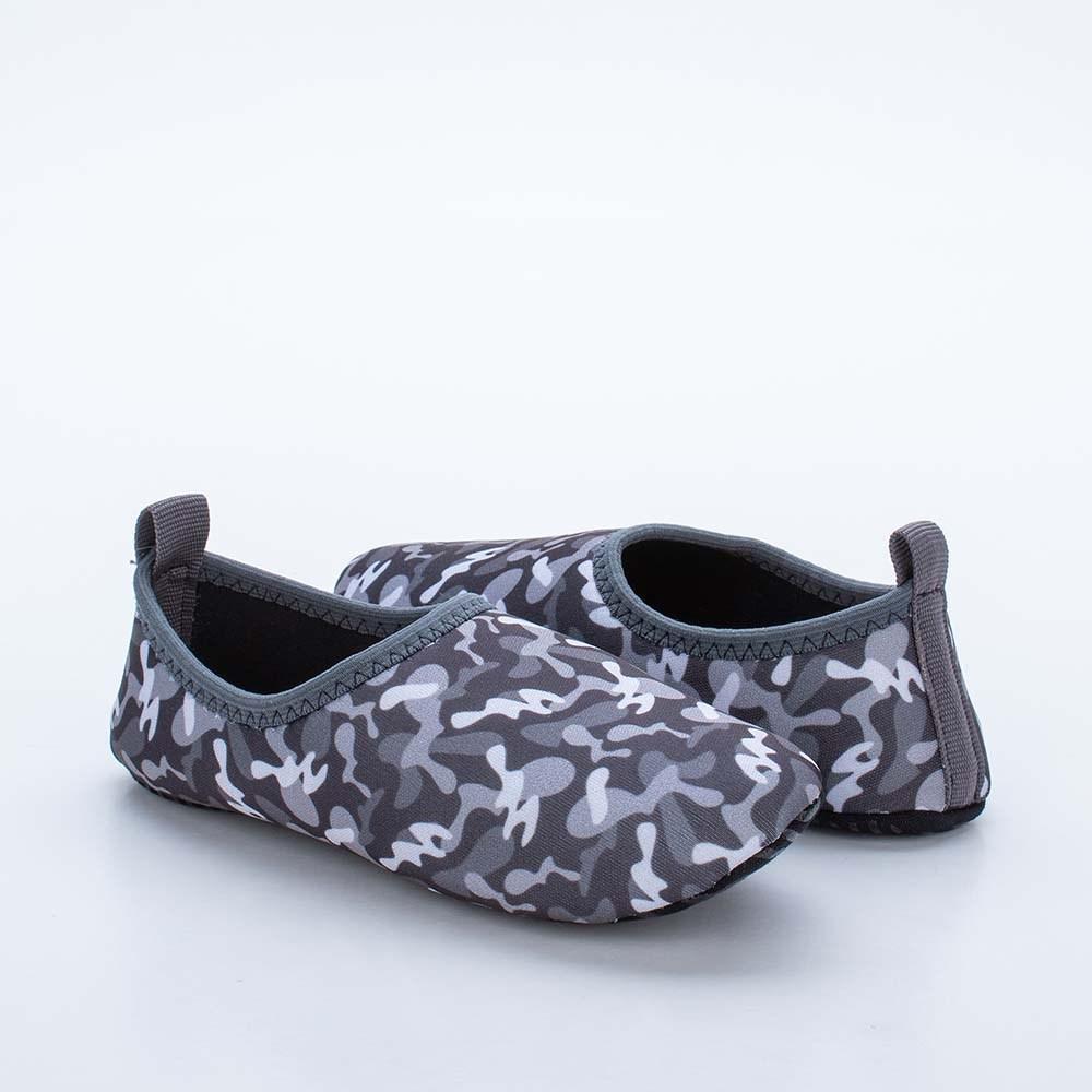 Sapatilha Infantil Masculina Kidy Socks Fun Camuflado Preto