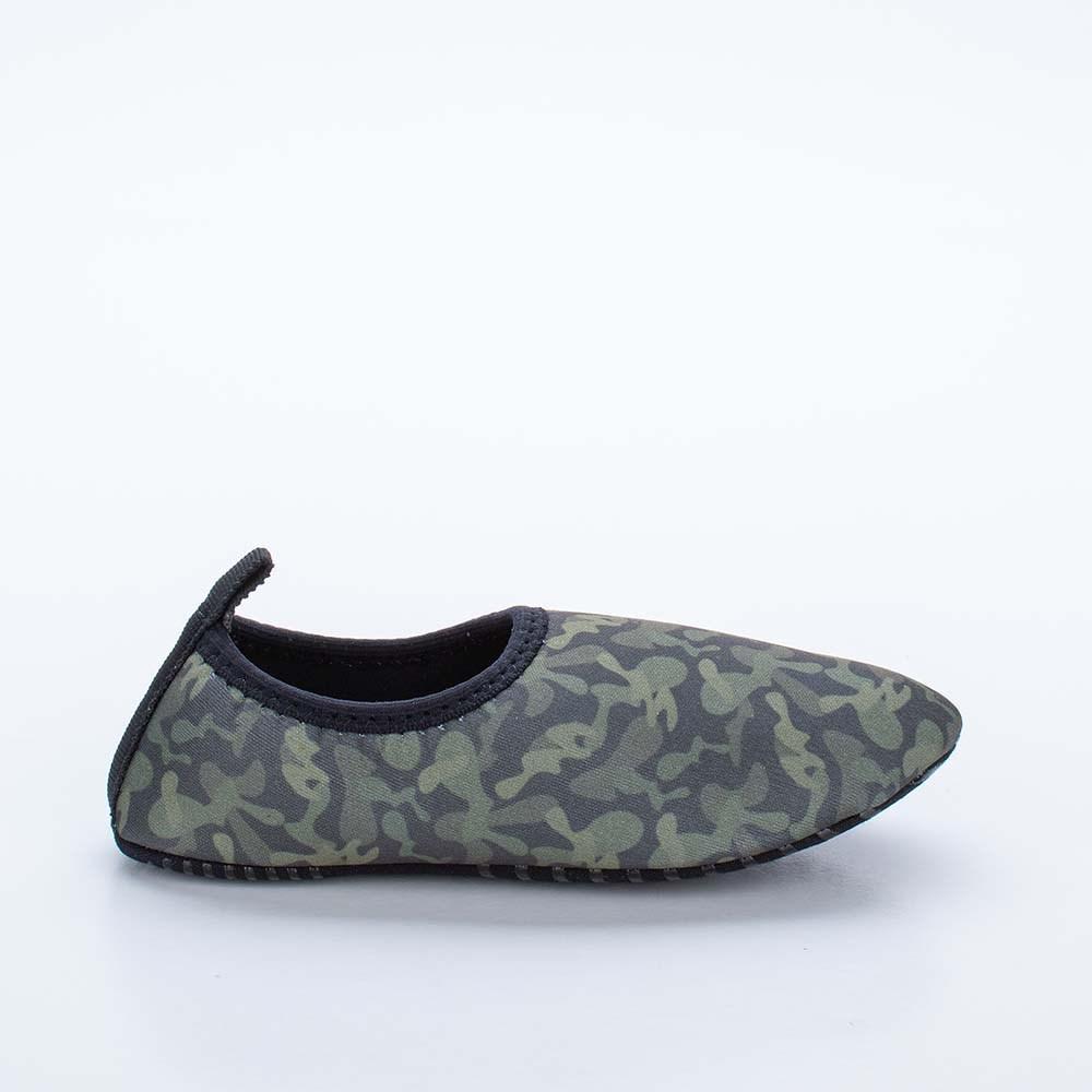 Sapatilha Infantil Masculina Kidy Socks Fun Camuflado Verde