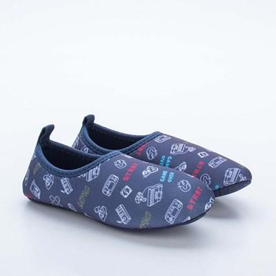 Sapatilha Infantil Masculina Kidy Socks Fun Marinho