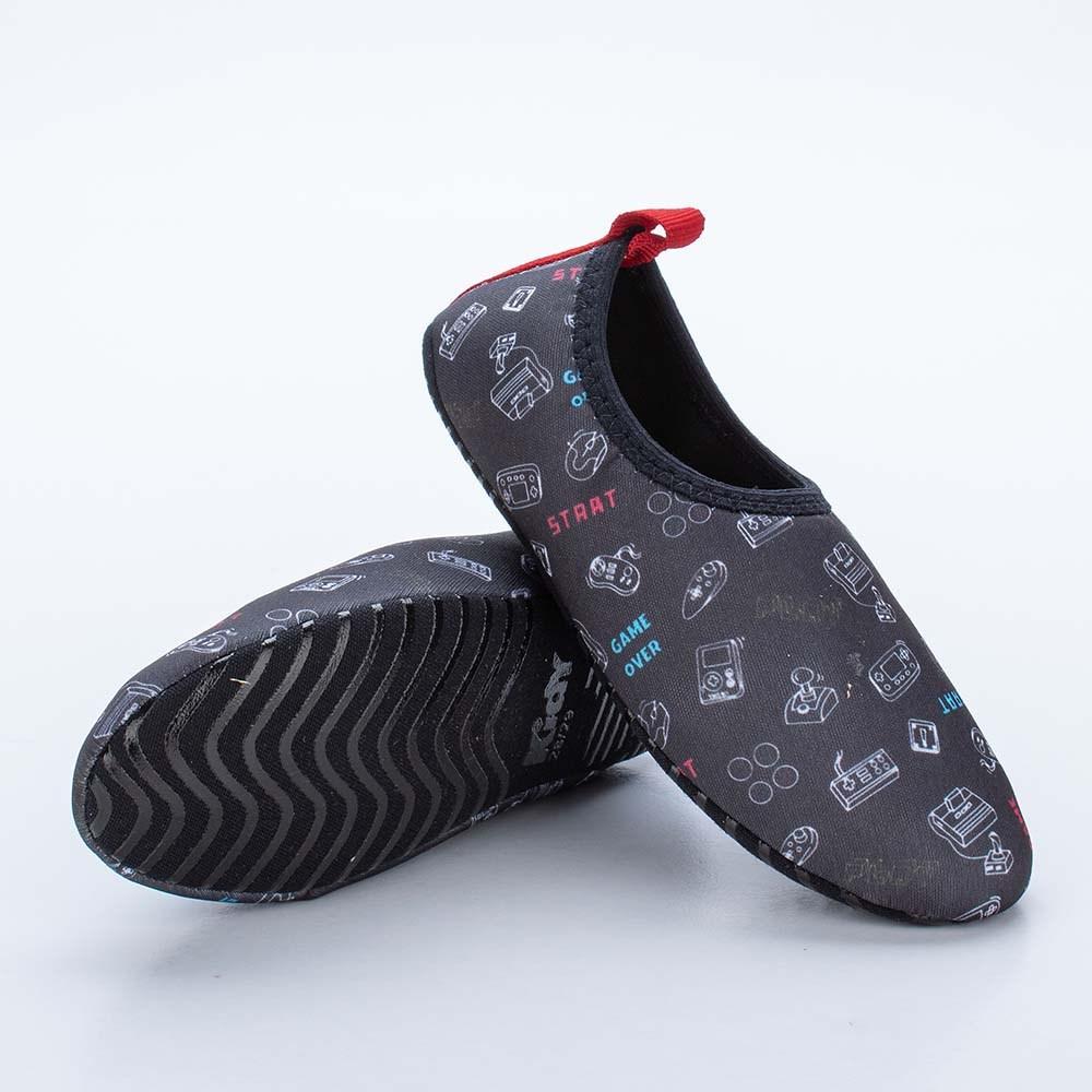Sapatilha Infantil Masculina Kidy Socks Fun Preto