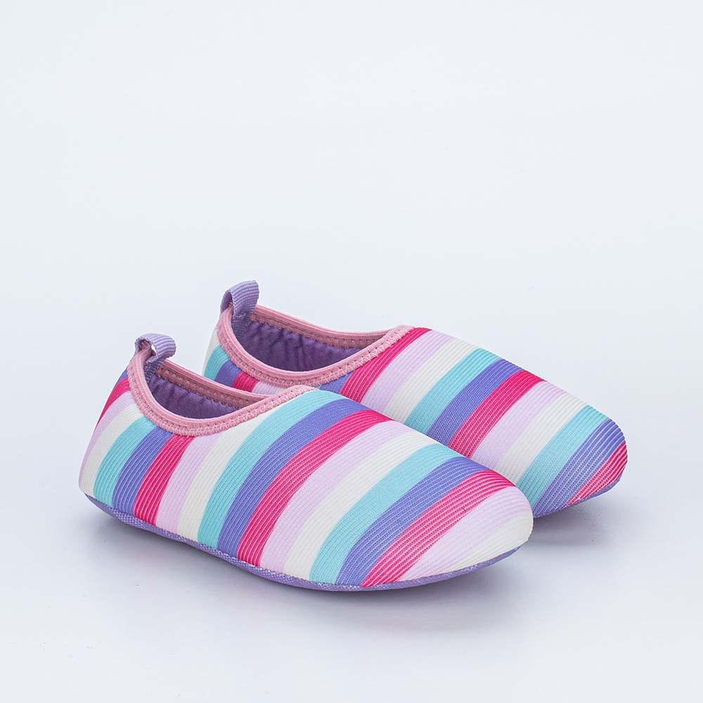 Sapatilha Meia Infantil Kidy Socks Colorida