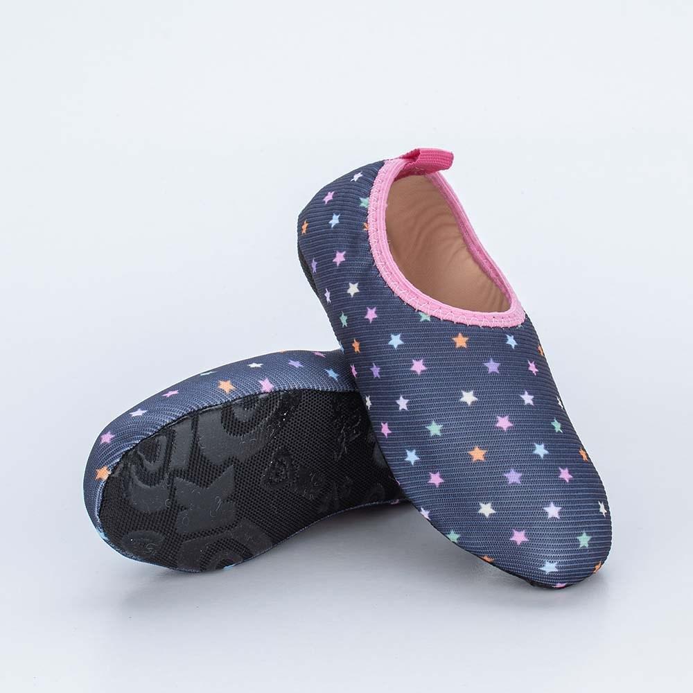 Sapatilha Meia Infantil Kidy Socks Marinho Estrelas
