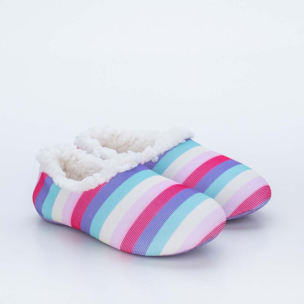 Sapatilha Meia Infantil Socks Fun Colorida Pelo Carneirinho