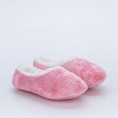 Sapatilha Meia Infantil Socks Fun Rosa com Pelo Carneirinho