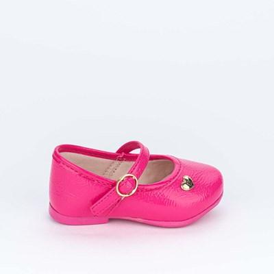 Sapatilha para Bebê Menina Kidy Pink em Verniz Show