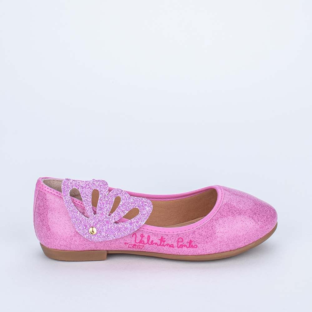 Sapatilha Valentina Pontes by Kidy com Asas e Glitter Lilás
