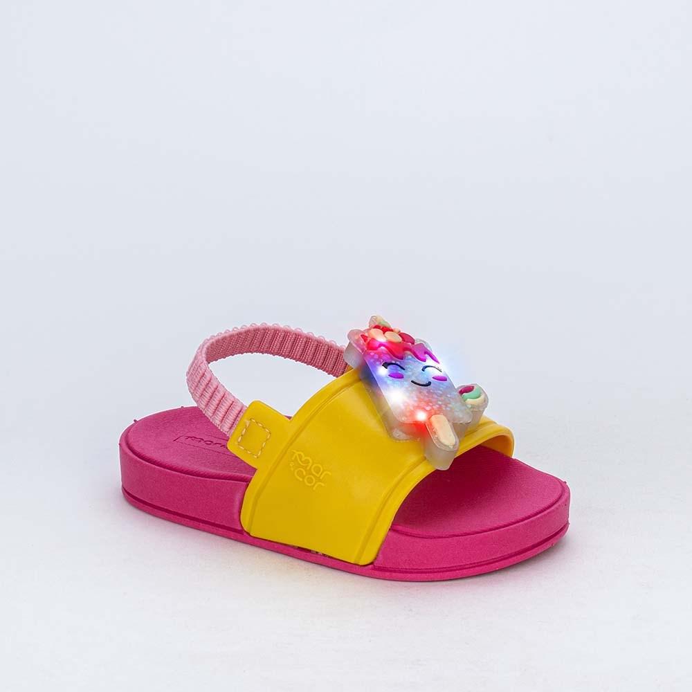 Slide de Led Baby Menina Sabrina Sato com Elástico Amarelo