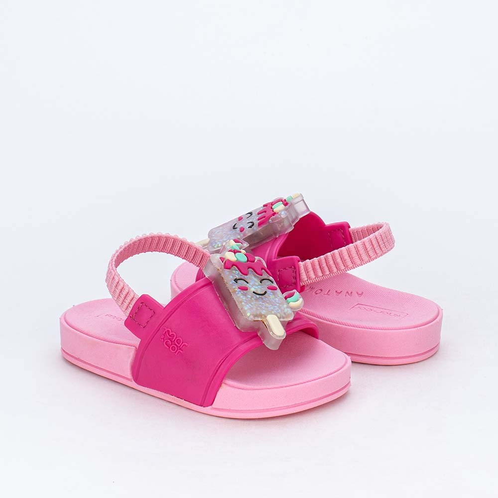 Slide de Led Baby Menina Sabrina Sato com Elástico Pink