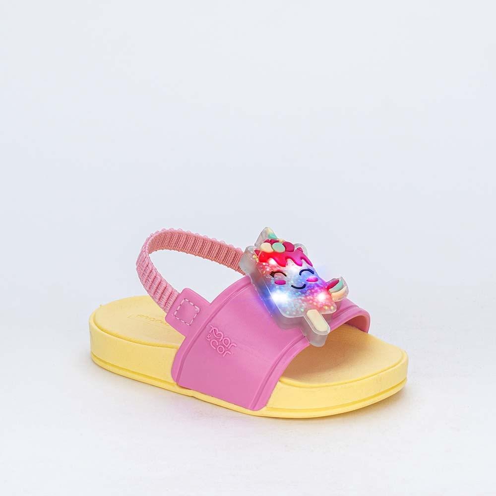 Slide de Led Baby Menina Sabrina Sato com Elástico Rosa