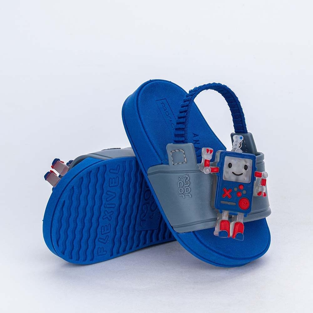 Slide de Led para Bebê Menino Mar e Cor com Elástico Azul