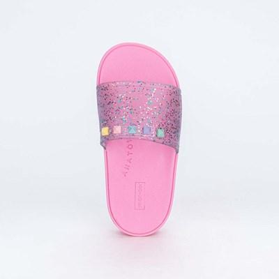 Slide Infantil Menina Sabrina Sato Rosa com Glitter