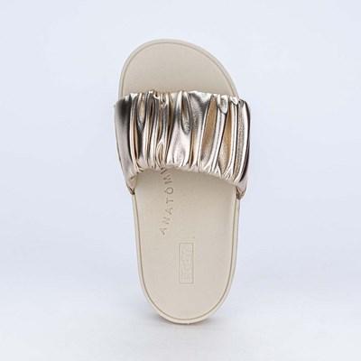 Slide Infantil para Meninas Kidy Comfy em Dourado Metalizado