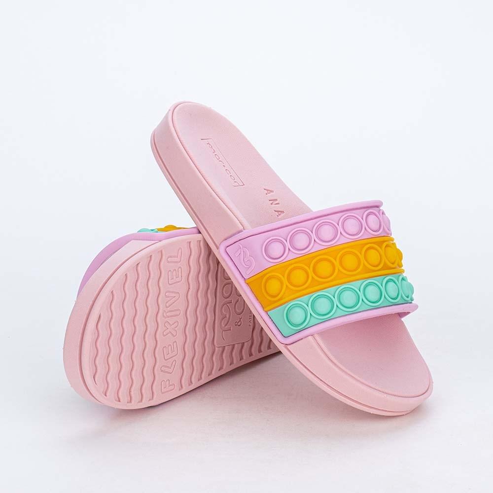 Slide Infantil para Meninas Mar e Cor Pop It Rosa Nude