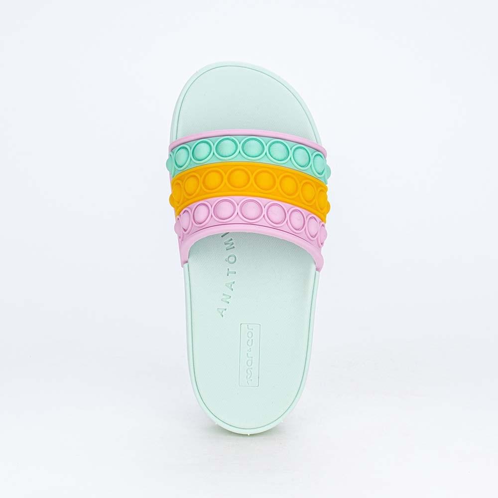 Slide Infantil para Meninas Mar e Cor Pop It Verde Marine