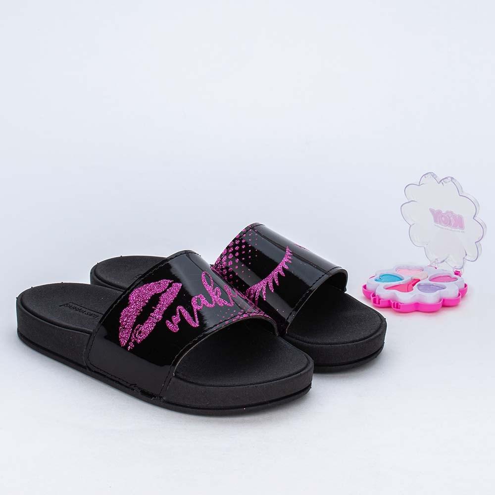 Slide Infantil para Meninas Sabrina Sato Comfy Make Preto