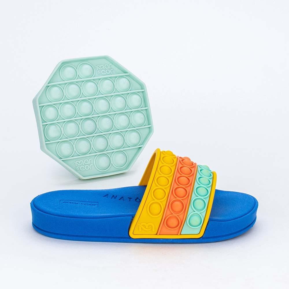 Slide Infantil para Meninos Mar e Cor Pop It Azul Royal