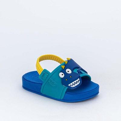 Slide para Bebê Menino Mar e Cor Dinossauro Azul de Elástico