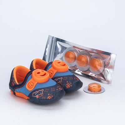 Tênis Bebê Kidy Protect com Repelente Marinho e Laranja