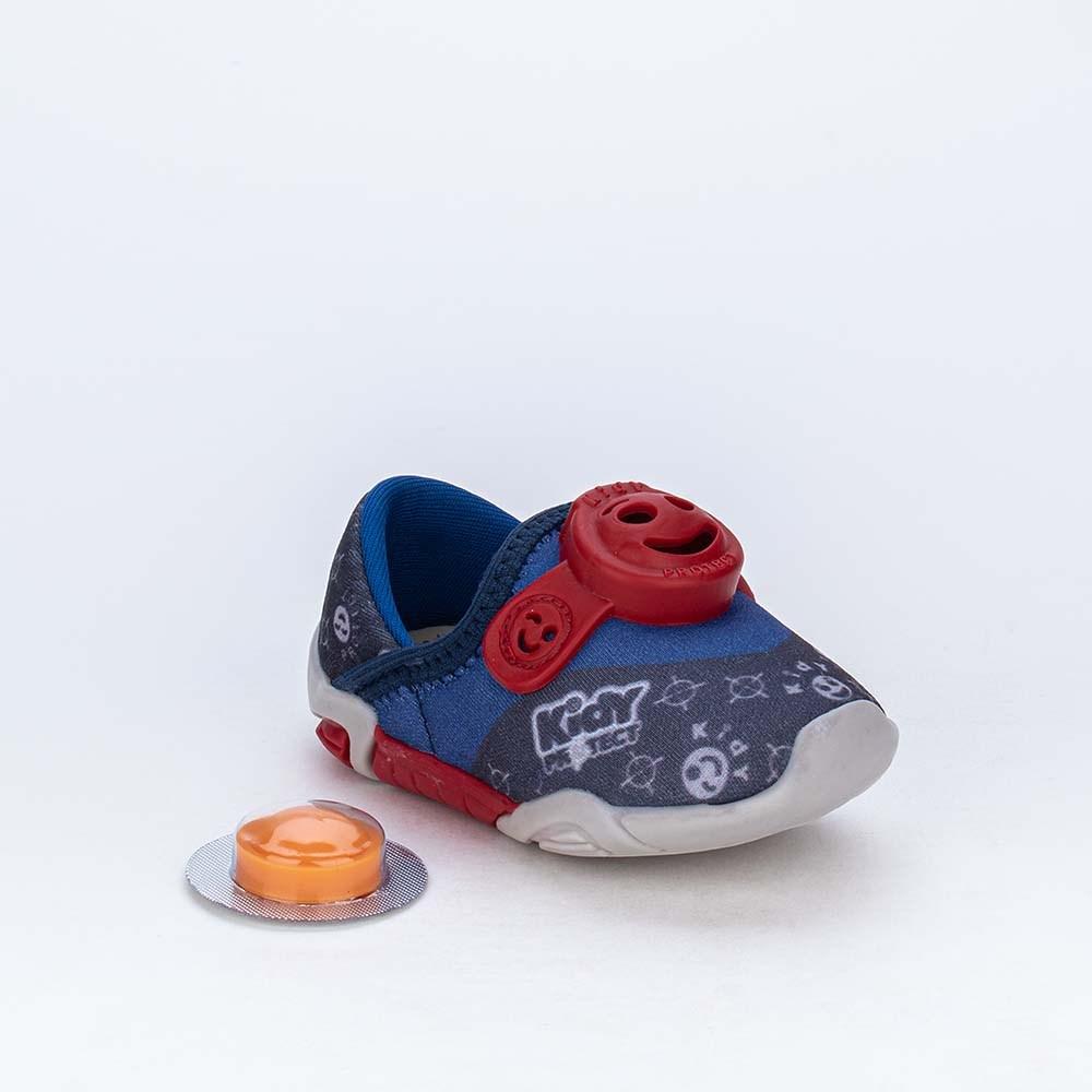 Tênis Bebê Kidy Protect com Repelente Marinho e Vermelho