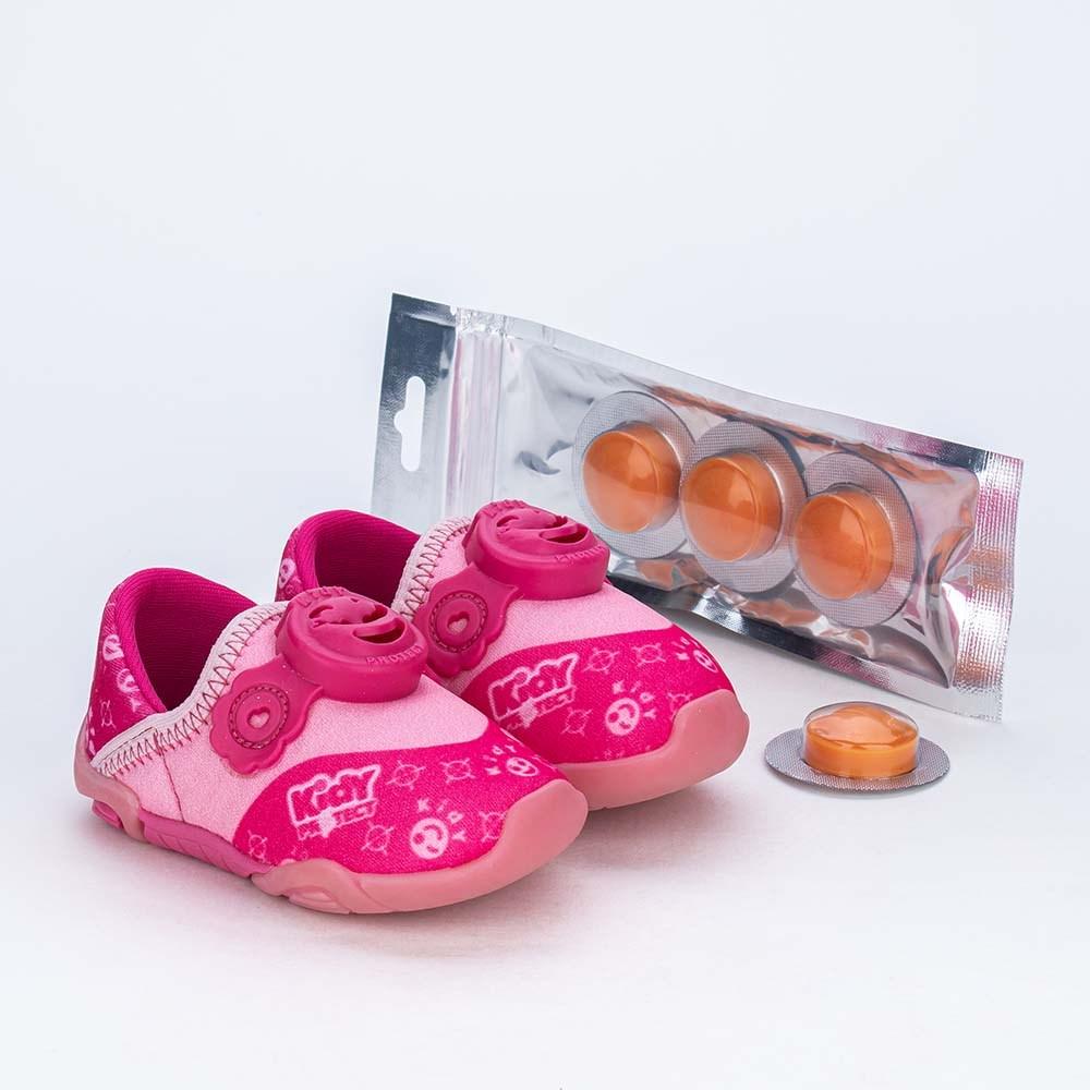 Tênis Bebê Kidy Protect com Repelente Rosa e Pink
