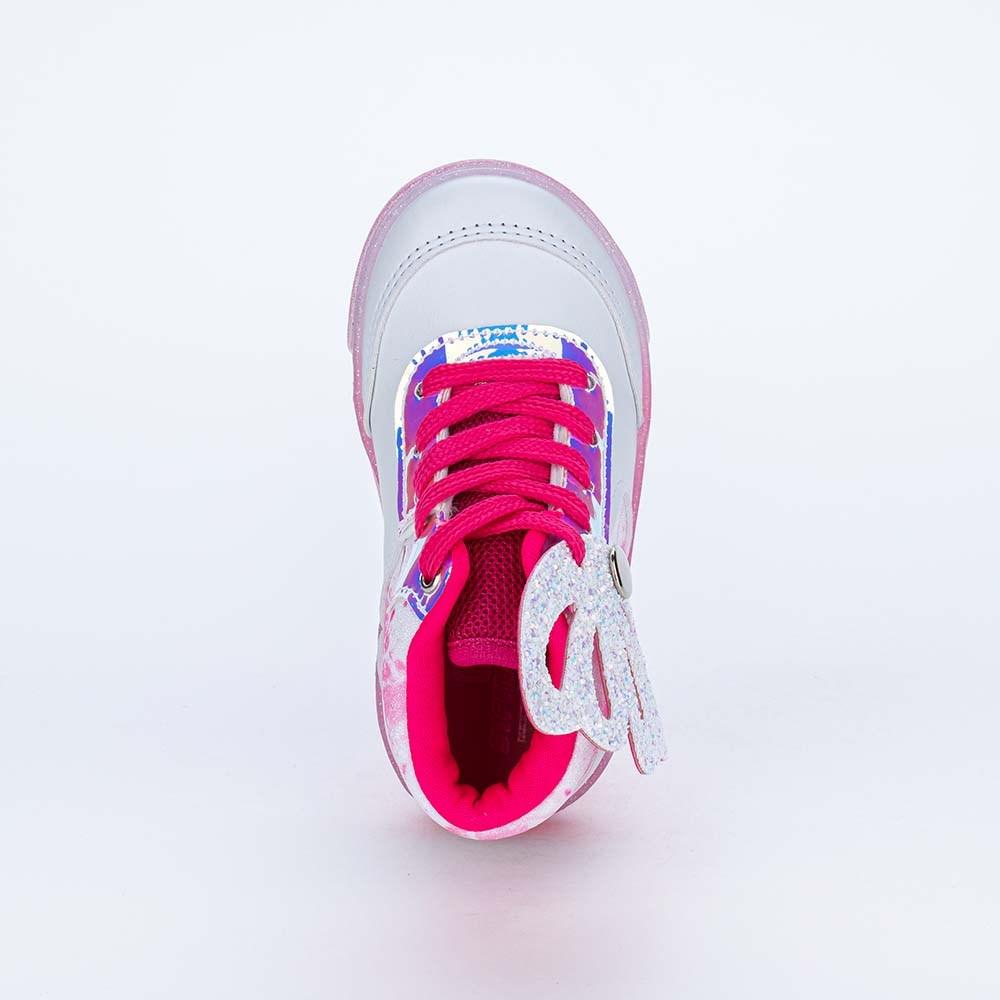 Tênis Cano Médio Valentina Pontes Pés Menores Branco e Pink
