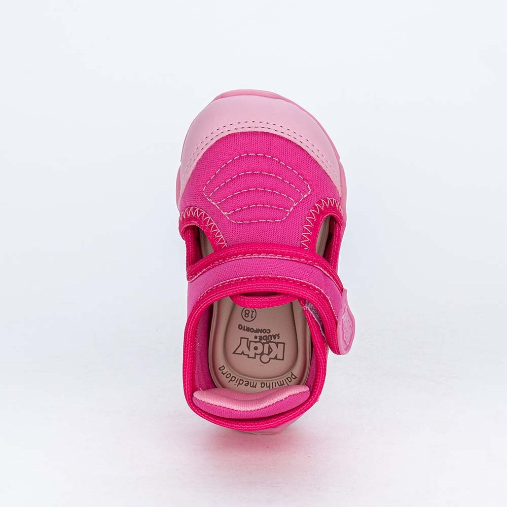 Tênis de Bebê Menina Kidy Colors Equilíbrio Pink e Rosa