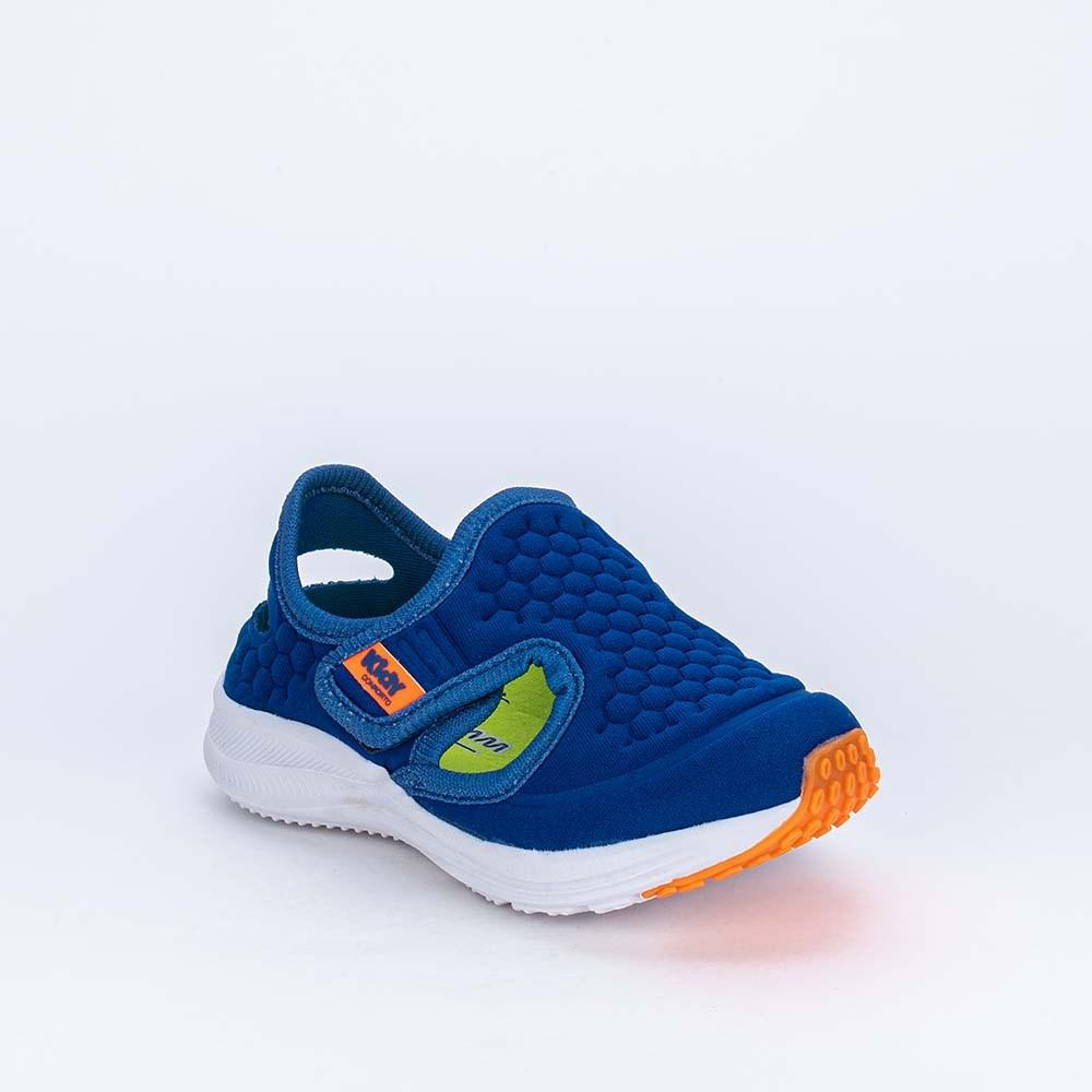 Tênis Esportivo Primeiros Passos Energy Calce Fácil Azul