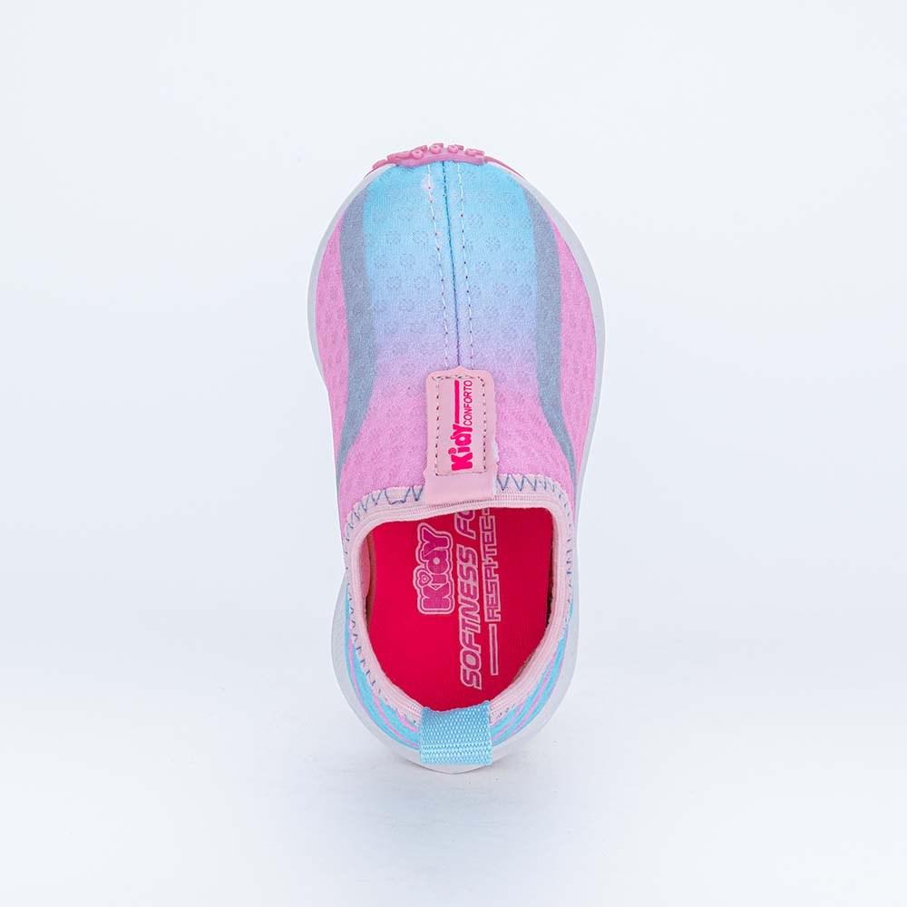 Tênis Esportivo Primeiros Passos Energy Rosa e Azul Claro
