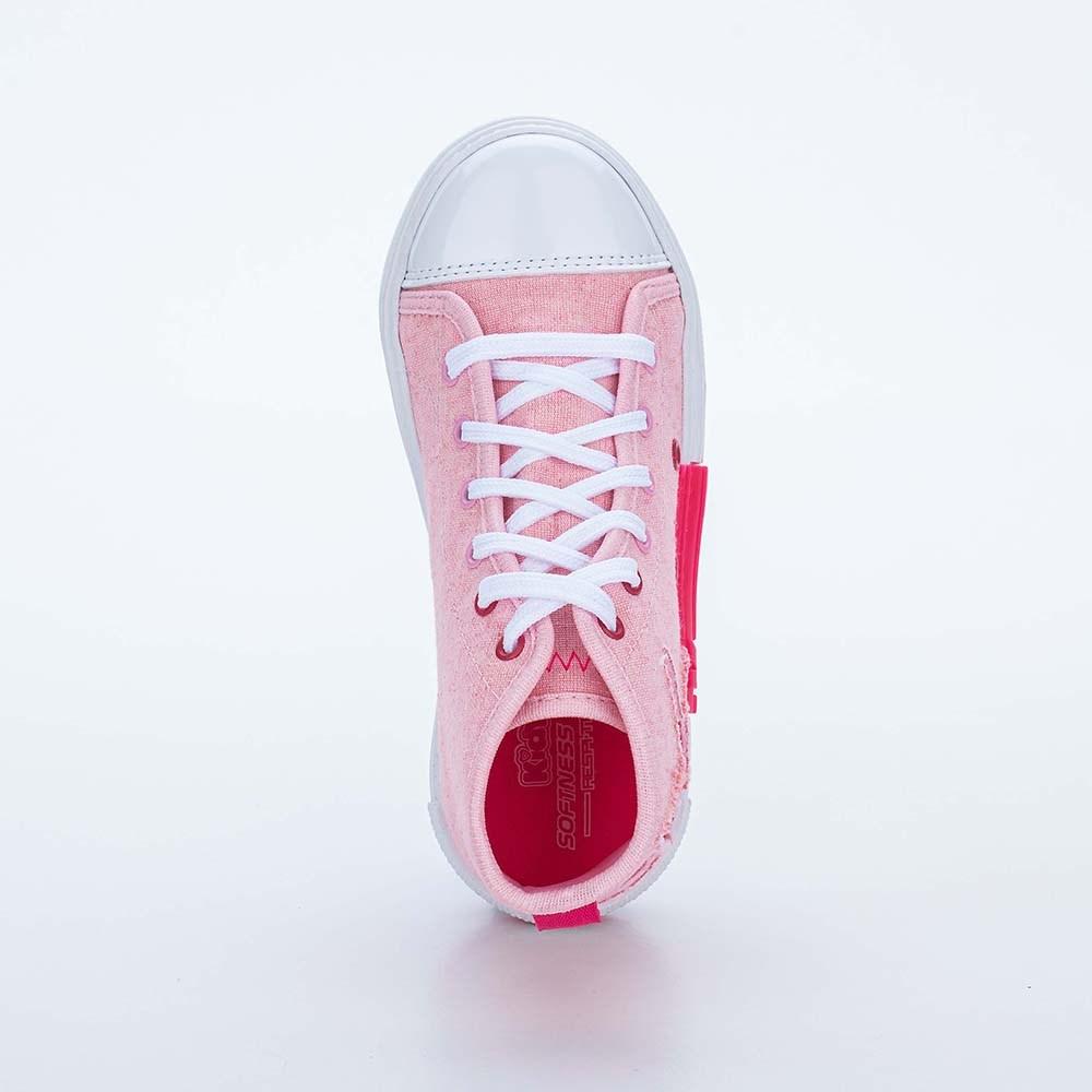 Tênis Infantil Eco Sustentável Cano Médio Rosa e Estrela de Glitter