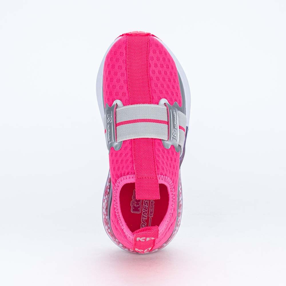 Tênis Infantil Esportivo Alpha Air Respitec Pink e Cinza