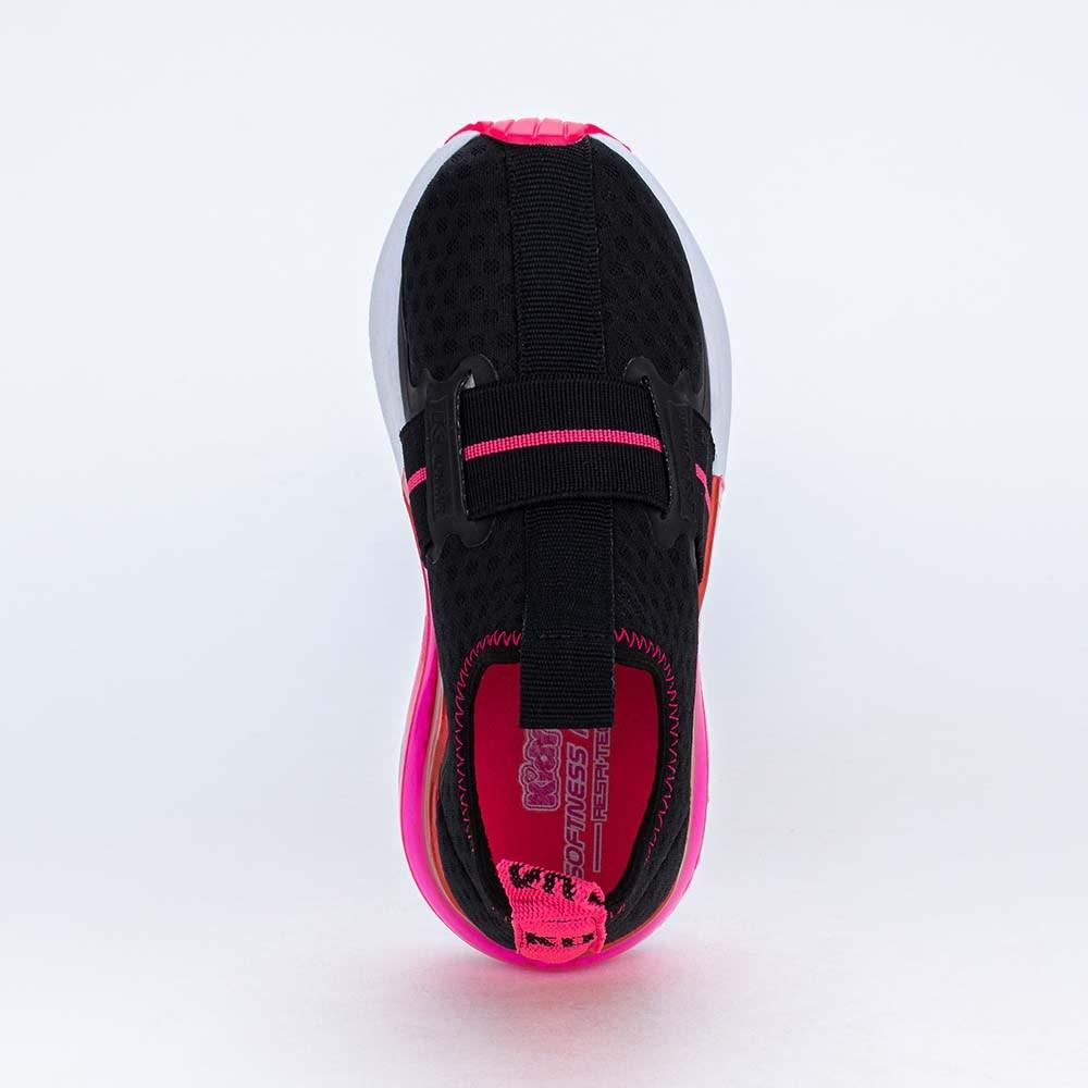 Tênis Infantil Esportivo Alpha Air Respitec Preto e Pink