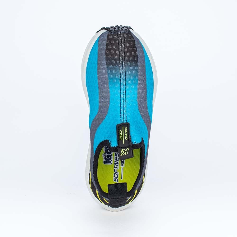 Tênis Infantil Esportivo Energy Calce Fácil Azul, Preto Neon