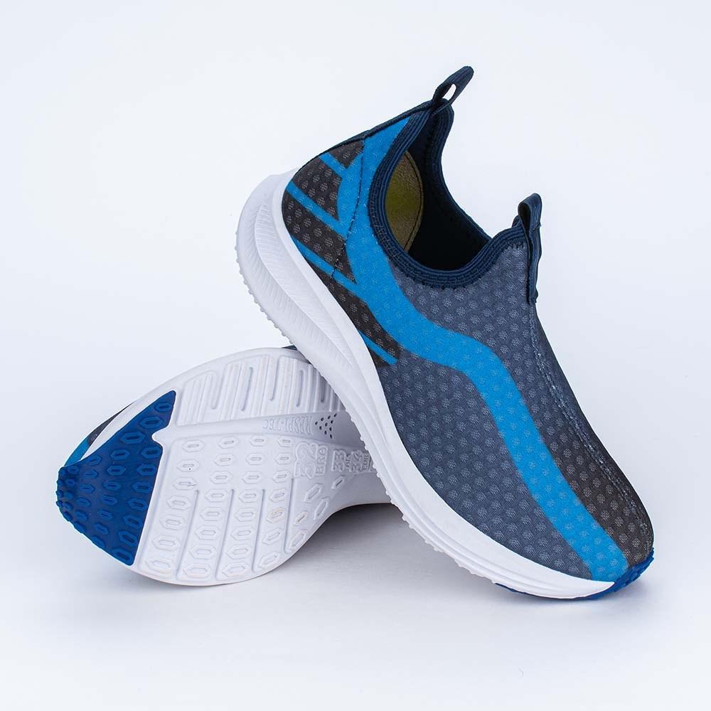 Tênis Infantil Esportivo Energy Calce Fácil Marinho e Azul
