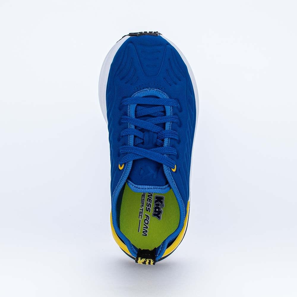 Tênis Infantil Esportivo Energy Mesh Azul Royal e Amarelo