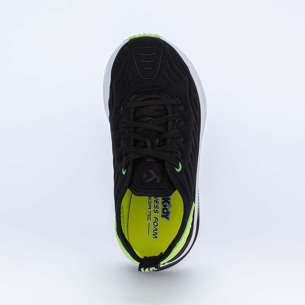 Tênis Infantil Esportivo Energy Mesh Preto e Amarelo Neon