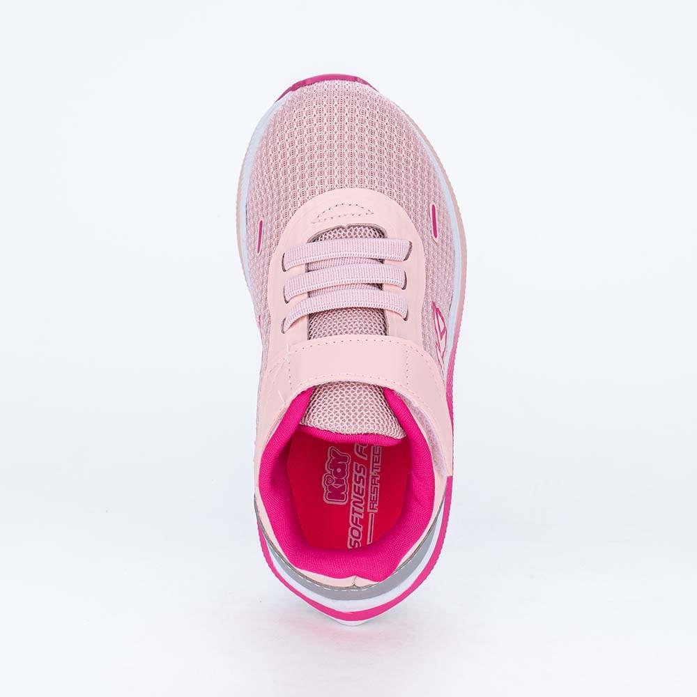 Tênis Infantil Esportivo Feminino Energy Tec Rosa e Pink