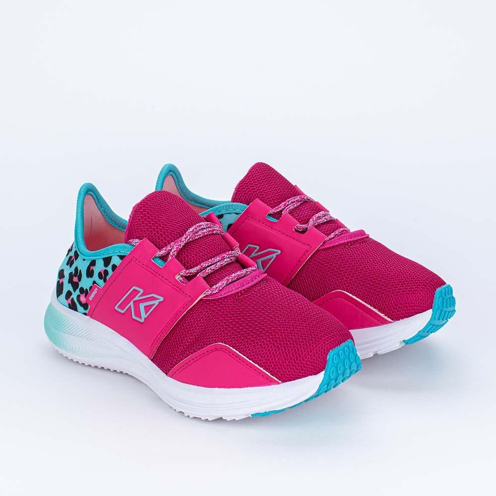 Tênis Infantil Esportivo Kidy Energy Pink e Animal Print