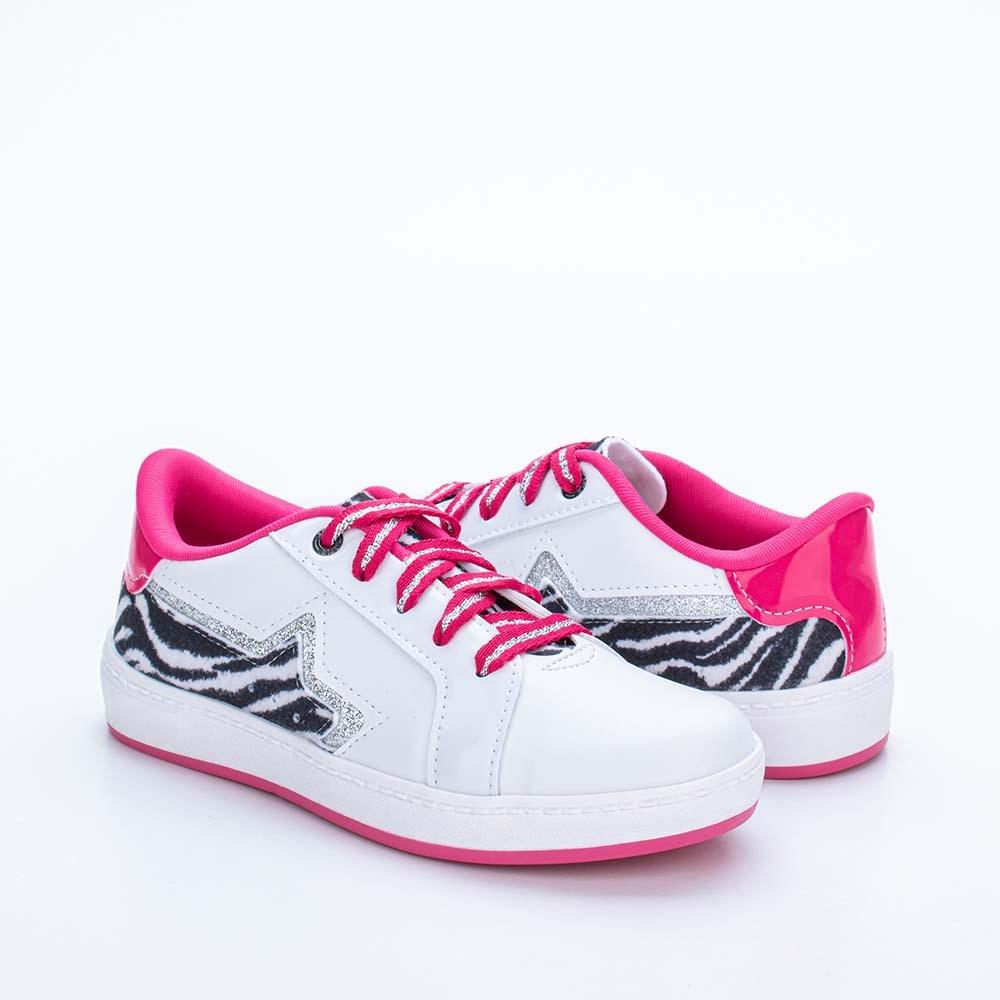 Tênis Infantil Feminino Hype Animal Print Zebra