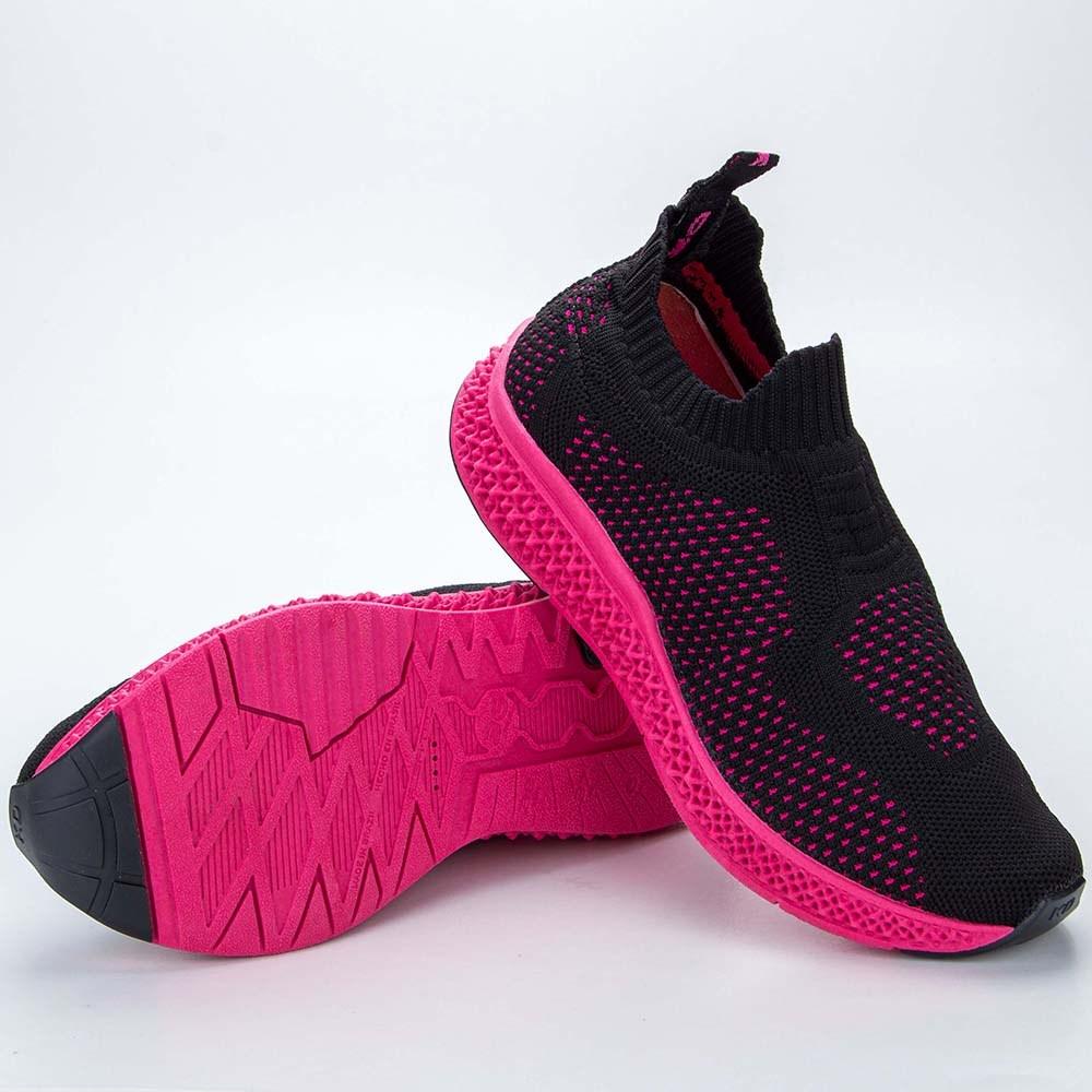 Tênis Infantil Feminino Kidy 3D Respitec Preto e Pink