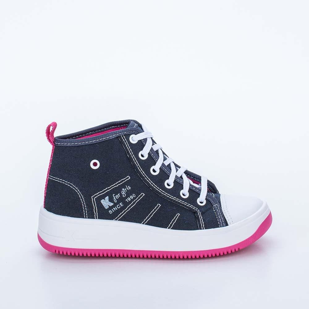 Tênis Infantil Feminino Kidy cano alto Eco Sustentável Marinho e Pink