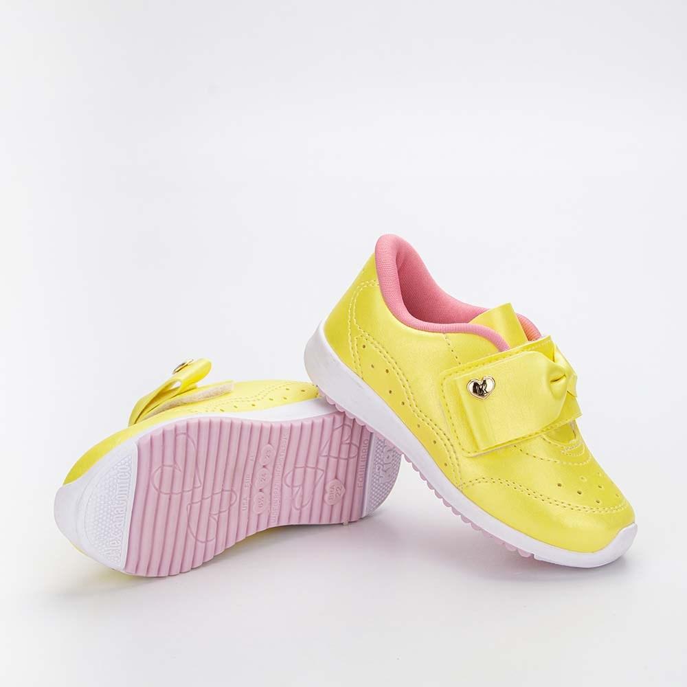 Tênis Infantil Feminino Kidy Colors Menina Amarelo