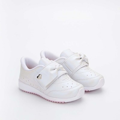 Tênis Infantil Feminino Kidy Colors Menina Branco