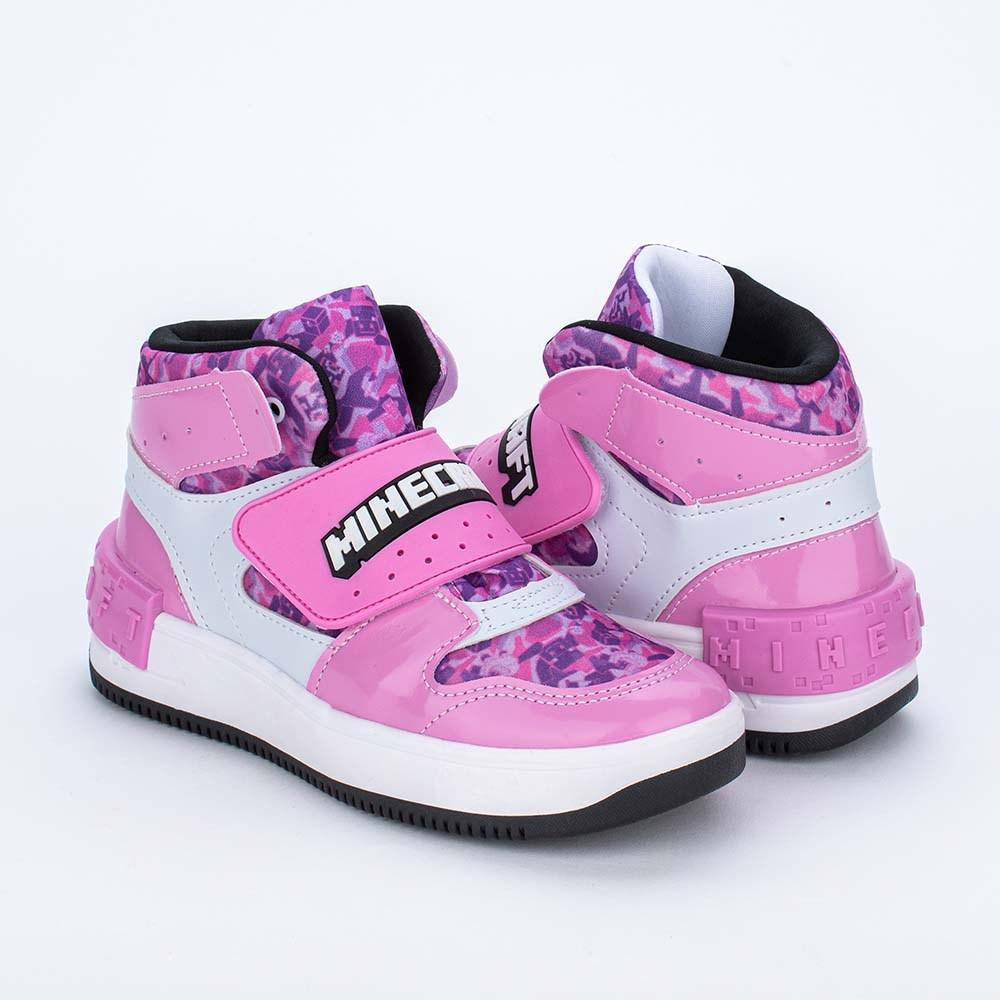 Tênis Infantil Feminino Kidy Energy Baby Respi - Tec Nude e Pink