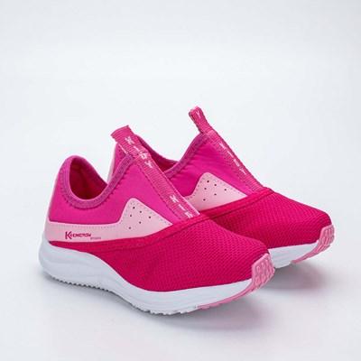 Tênis Infantil Feminino Kidy Energy Baby Respi - Tec Pink, Rosa e Branco