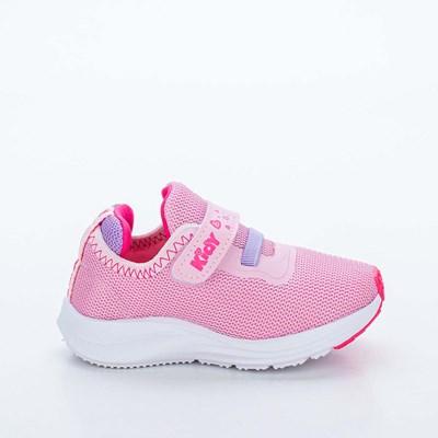Tênis Infantil Feminino Kidy Energy Baby Rosa, Lilás e Pink Neon