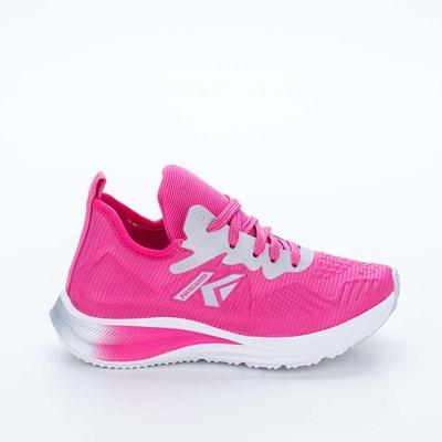 Tênis Infantil Feminino Kidy Energy Respitec Pink e Prata