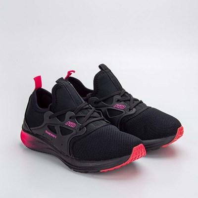 Tênis Infantil Feminino Kidy Energy Respitec Preto e Pink