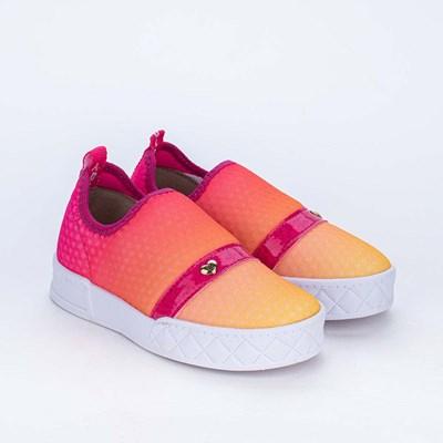 Tênis Infantil Feminino Kidy Hype Calce Fácil Pink e Laranja