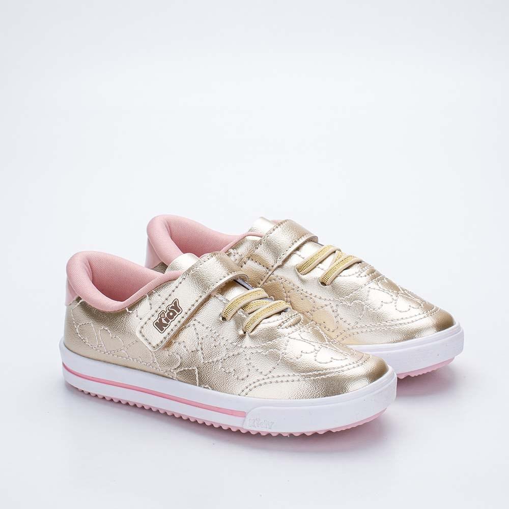Tênis Infantil Feminino Kidy Love Baby Dourado