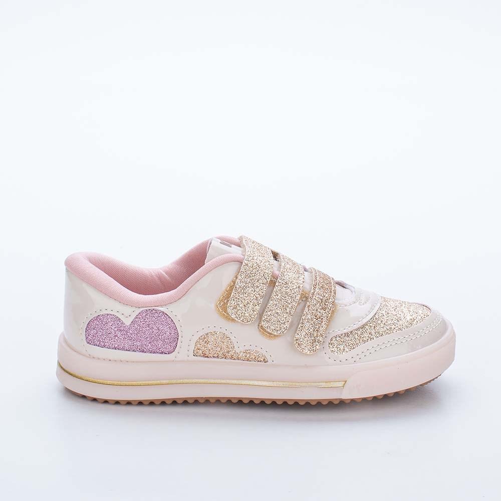 Tênis Infantil Feminino Kidy Love Baby Marfim e Colorido